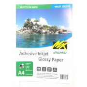 20 Folhas A4 Papel Fotográfico Glossy Adesivo 135g