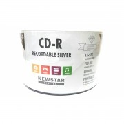 50 Cd-r Newstar Printable Fundo Prata Diamond 700mb 80min