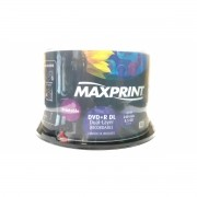 50 Mídia Virgem Dvd+r Dual Layer Maxprint Printable 8.5gb 240min