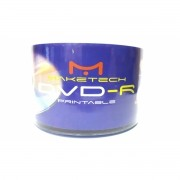 50 Mídia Virgem Dvd-r Maketech Printable 4.7gb 120min