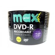 50 Mídia Virgem Dvd-r Maxprint Printable 4.7gb 120min
