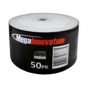 50 Mídia Virgem CD-R Mega Printable 700mb 80min