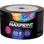 50 Mídia Virgem CD-R Maxprint Printable 700mb 80min
