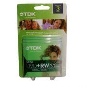 3 Mini Dvd+rw Tdk Logo 1.4gb 30min Para Filmadora