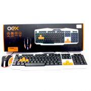 Teclado e Mouse sem fio Oex TM300 Ice