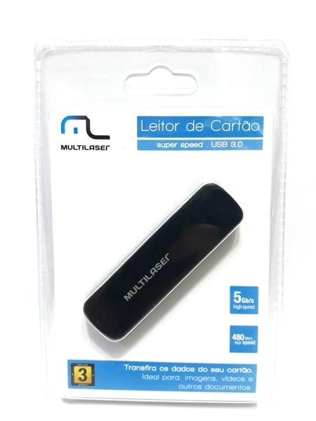 1 Leitor de Cartão 3.0 Multilaser AC290