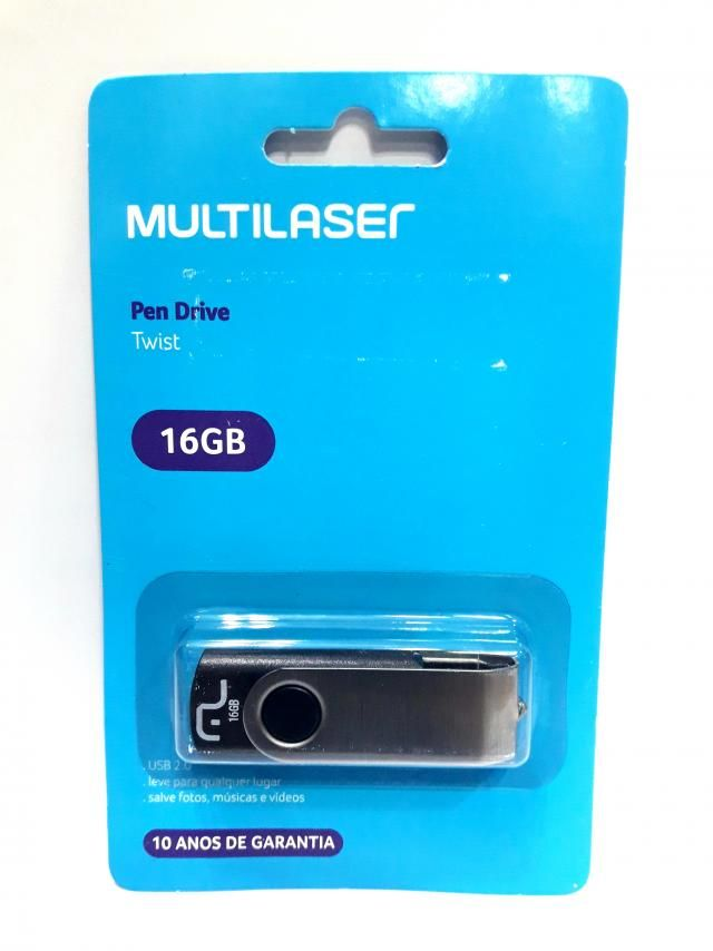 1 Pendrive Multilaser 16gb Pd588 Twist