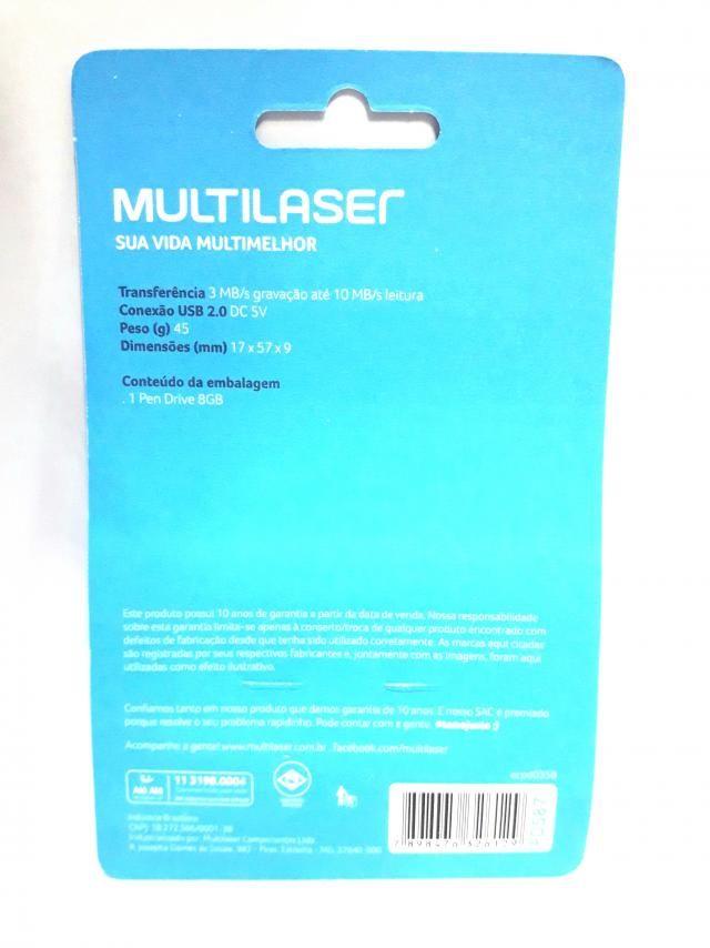 1 Pendrive Multilaser 8gb Pd587 Twist