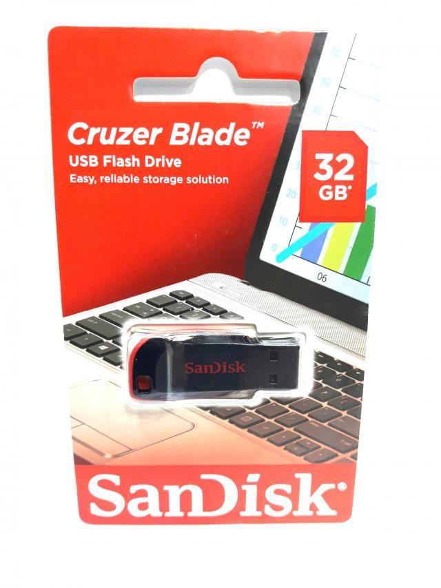 1 Pendrive Sandisk 32gb Cruzer Blade