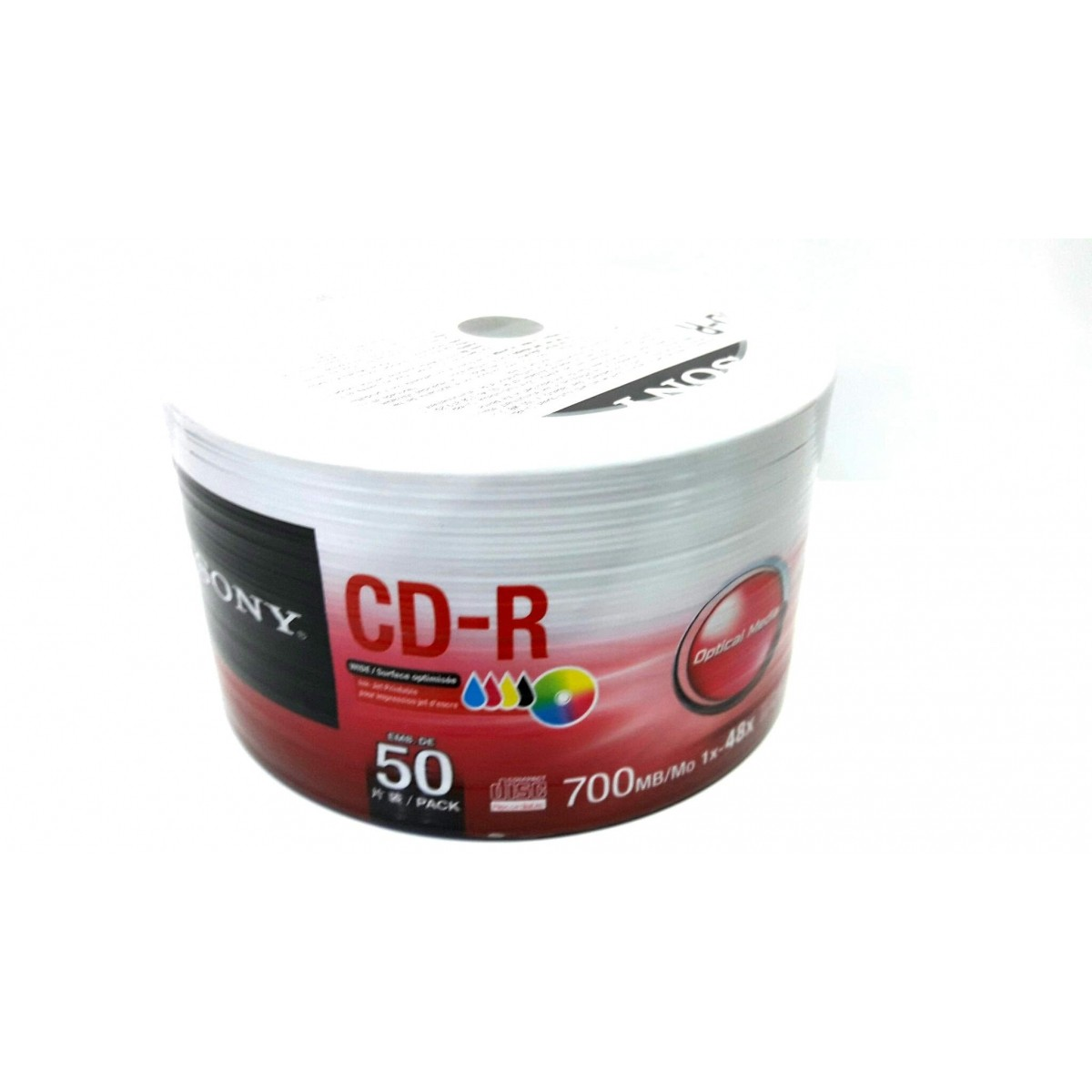 50 Mídia Virgem CD-R Sony Printable 700mb 80min