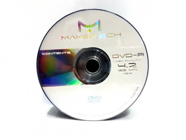 50 Dvd-r Maketech Logo 4.7gb 120min
