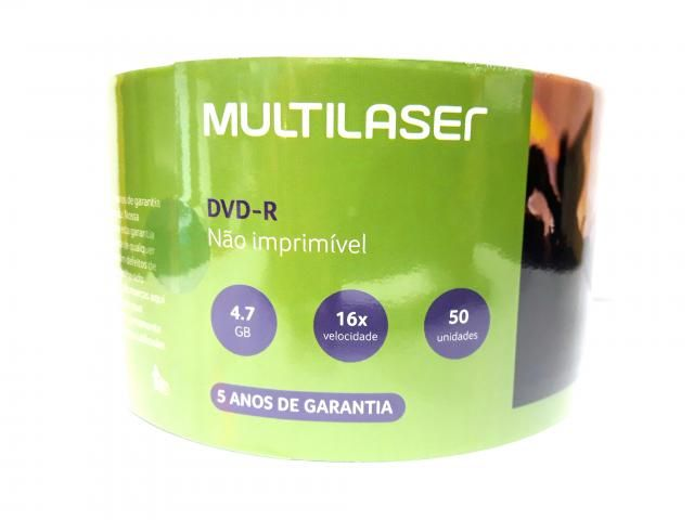 50 Dvd-r Multilaser Logo 4.7gb 120min