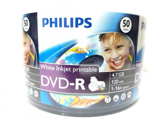 50 Dvd-r Philips Printable 4.7gb 120min