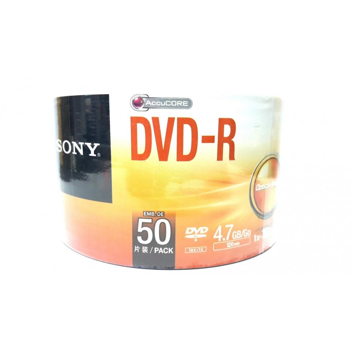 50 Mídia Virgem Dvd-r Sony Logo 4.7gb 120min