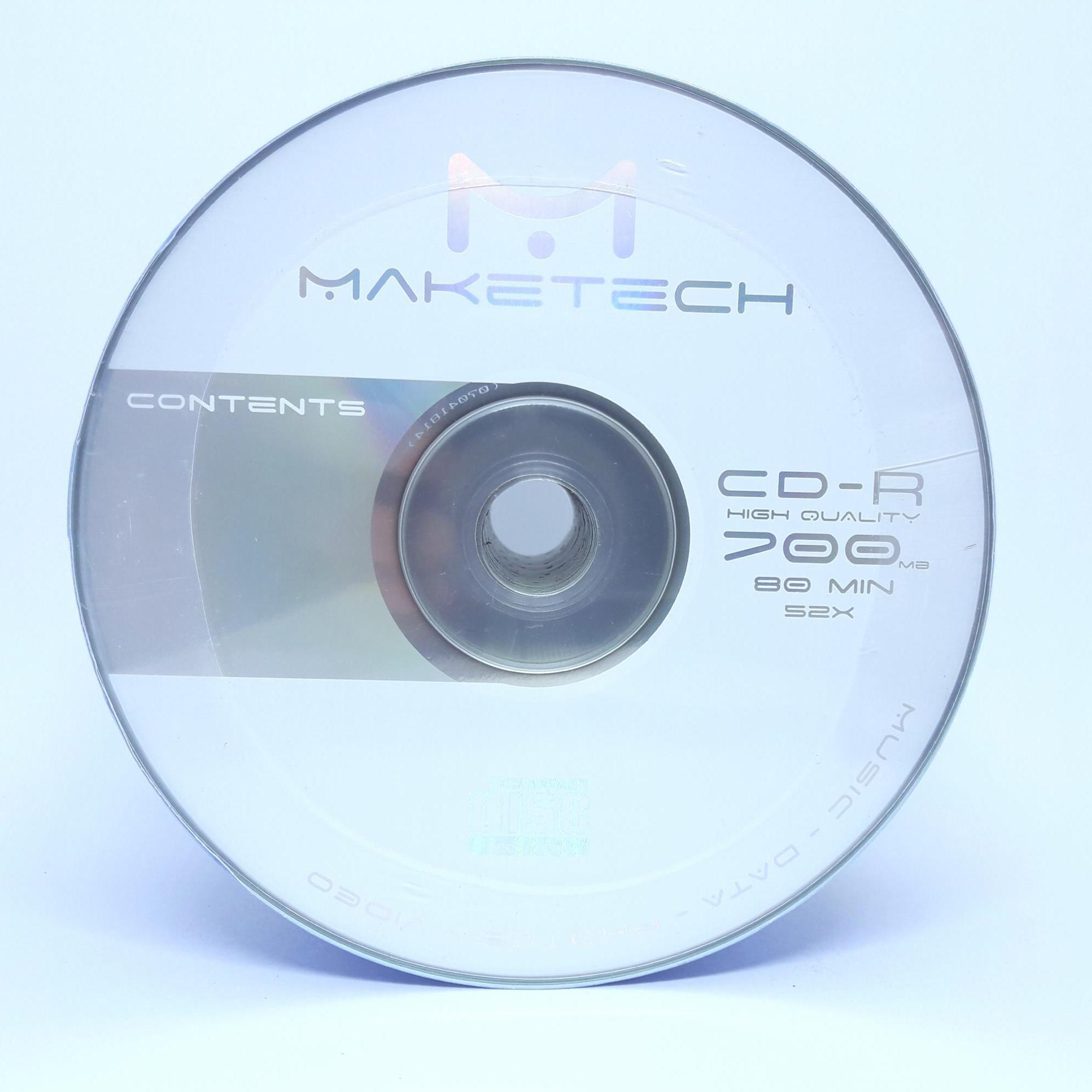 50 Mídia Virgem CD-R Maketech Logo 700mb 80min