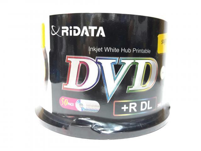 50 Mídia Virgem Dvd+r Dual Layer Ridata Printable 8.5gb 240min (Overburn 8.7GB)