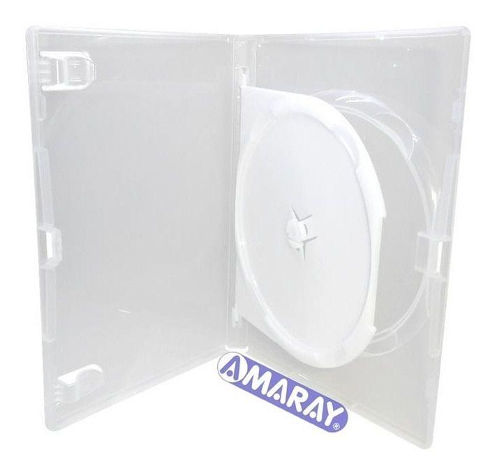 Box DVD Duplo Transparente un.
