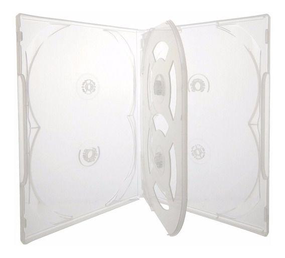 Box DVD Sêxtuplo 6 Transparente
