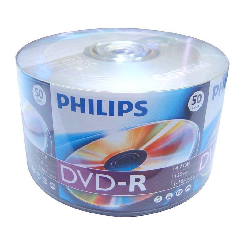 DVD-R Philips 4.7gb 120min 50UN.