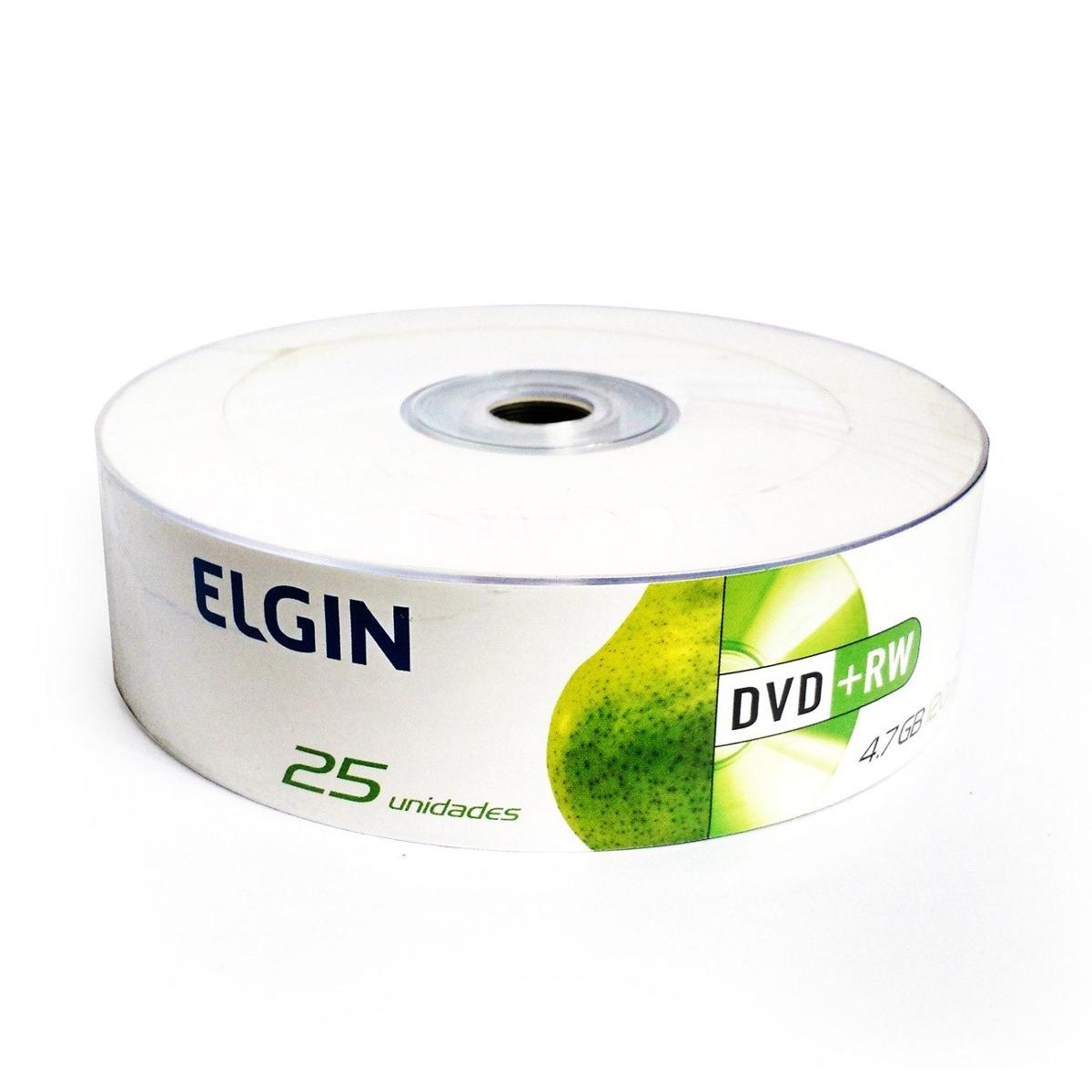 25 DVD+RW Elgin 4.7gb 120min