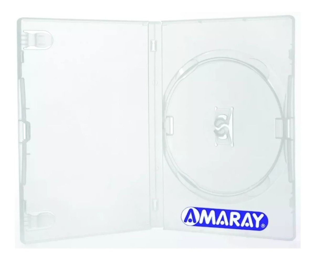 Estojo Caixa Box DVD Transparente Amaray