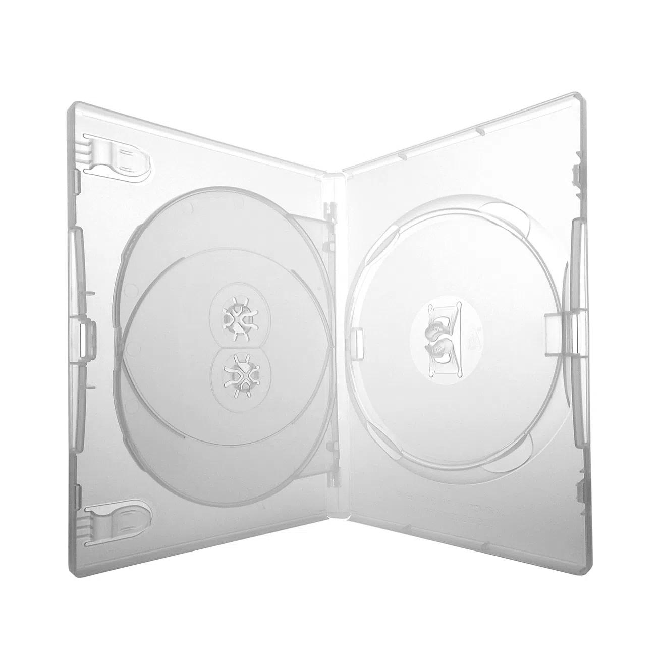 Estojo Caixa Box DVD Triplo 3 Transparente