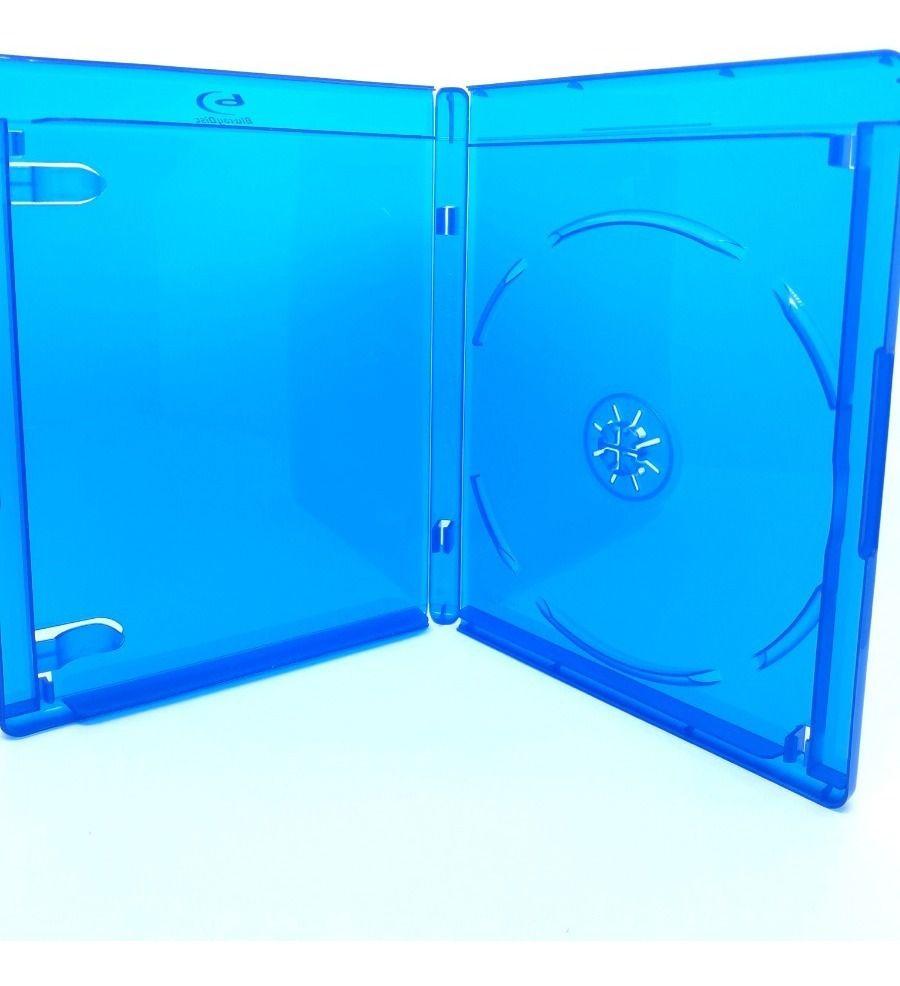 Estojo Capa Caixa Box Bluray Azul Elite Com Logo