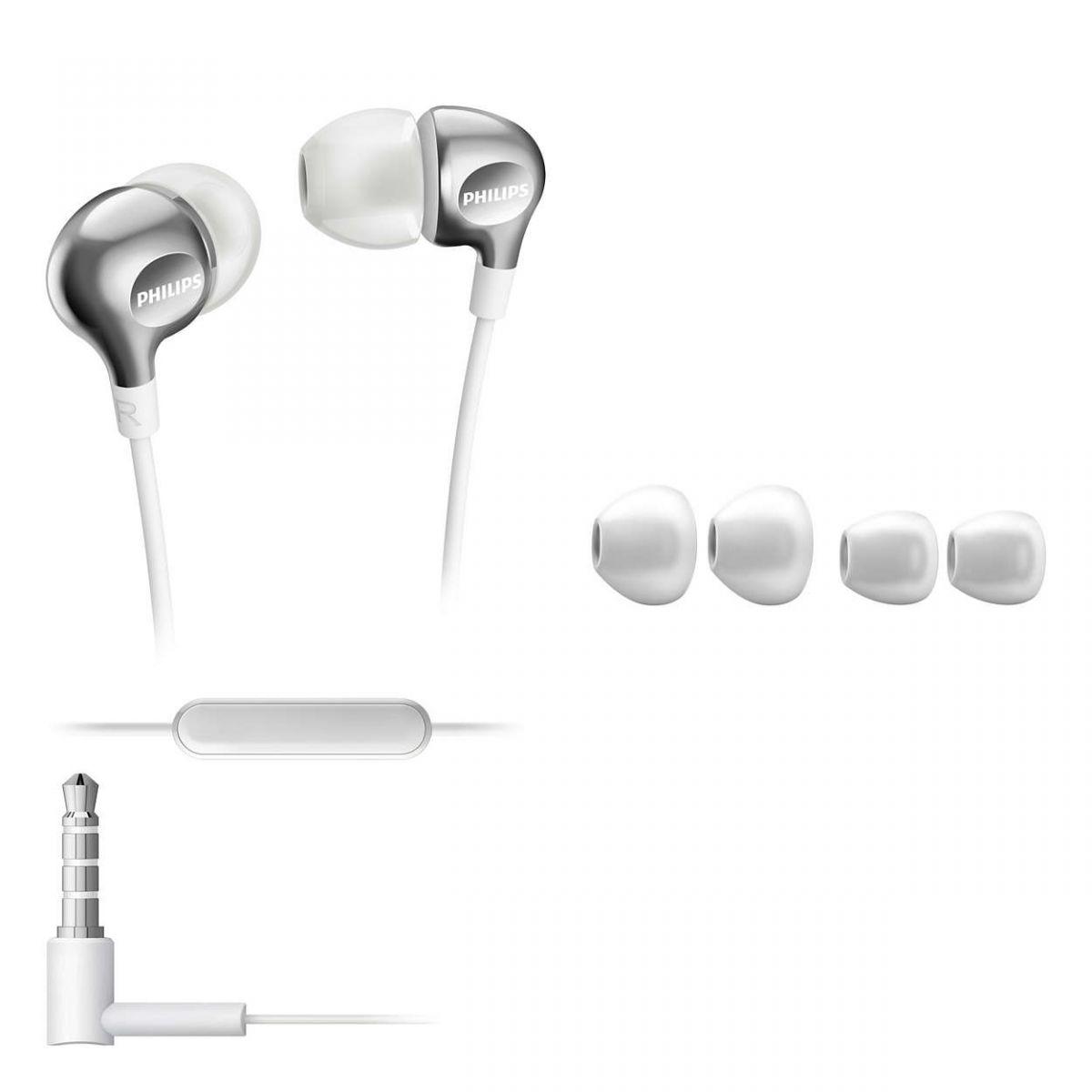 Fone de Ouvido Com Microfone Intra Auricular Philips SHE3705WT/00 Branco