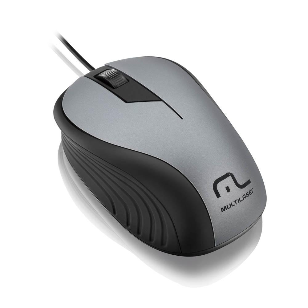 Mouse Óptico Usb Multilaser Wave 1200dpi MO225
