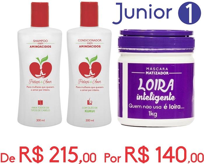Junior 1-Shampo e Condicionador com Aminoácidos + Loira Inteligente