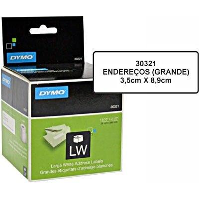 Etiqueta p/ Impressora Térmica Labelwriter 36mmx89mm 2 Rolos C/260 un. 30321 Dymo