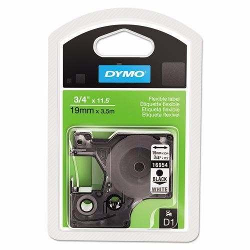 Fita Nylon D1 Flexível Preto No Branco 19mmx3,5m 16954 Dymo