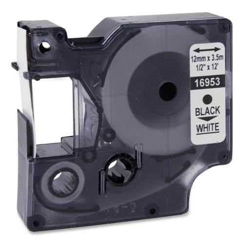 Fita D1 Nylon Flexível Preto no Branco 12mmx3,5m 16953 Dymo
