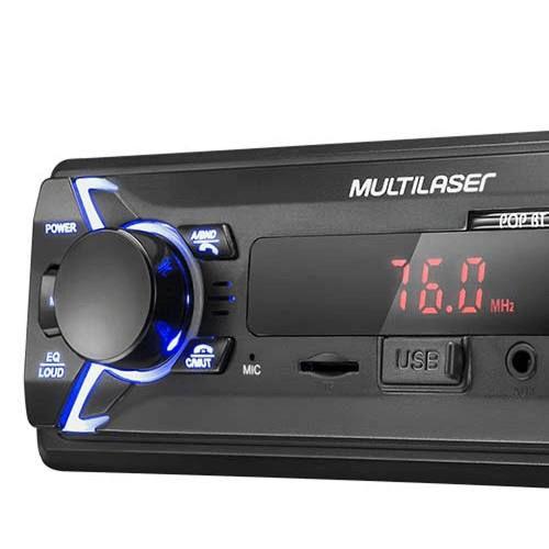 Som Automotivo Multilaser Bluetooth/Usb/Sd/P2/Rádio P3336