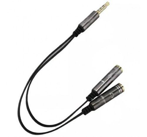 Cabo Adaptador Áudio Splitter Headset Fone Microfone P2 X P3