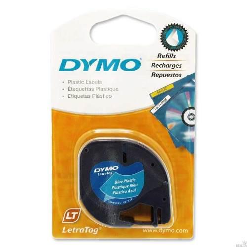 Fita p/ Rotulador Letratag 12mmx4m plástico Azul 91335 Dymo