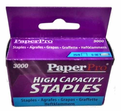 Grampo 25/8 Cx C/3000 Grampos P/ Grampeadores Paperpro 1932