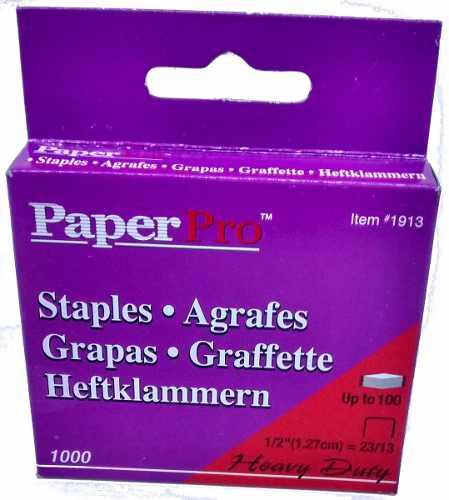 Grampo 23/13 Cx C/1000 Grampos P/ Grampeadores Paperpro 1913