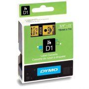 Fita p/ Rotulador profissional Labelmanager 19mmx7m pt/ Amarelo 45808 D1 Dymo