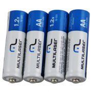 Pilhas Recarregável AA 2500mAh Blister 4 Unidades Multilaser Cb052