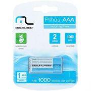 Pilhas Recarregável Multilaser AAA 1000mah 1.2v Cb051