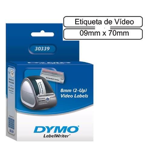 Etiqueta Térmica Vídeo Dymo 9mmx70mm 1 Rolo C/ 700 Un 30339