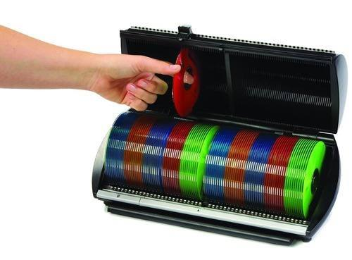Organizador porta cd dvd p 100 cds selector preto discgear dika de