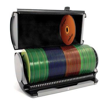 Porta Cd Dvd Discgear Organizador P/ 80 Cds Selector 80s Prata 341004