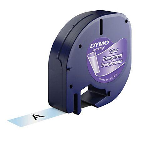 6 Fitas Letratag Dymo 12mm Sortidas P/ Rotulador Eletronico