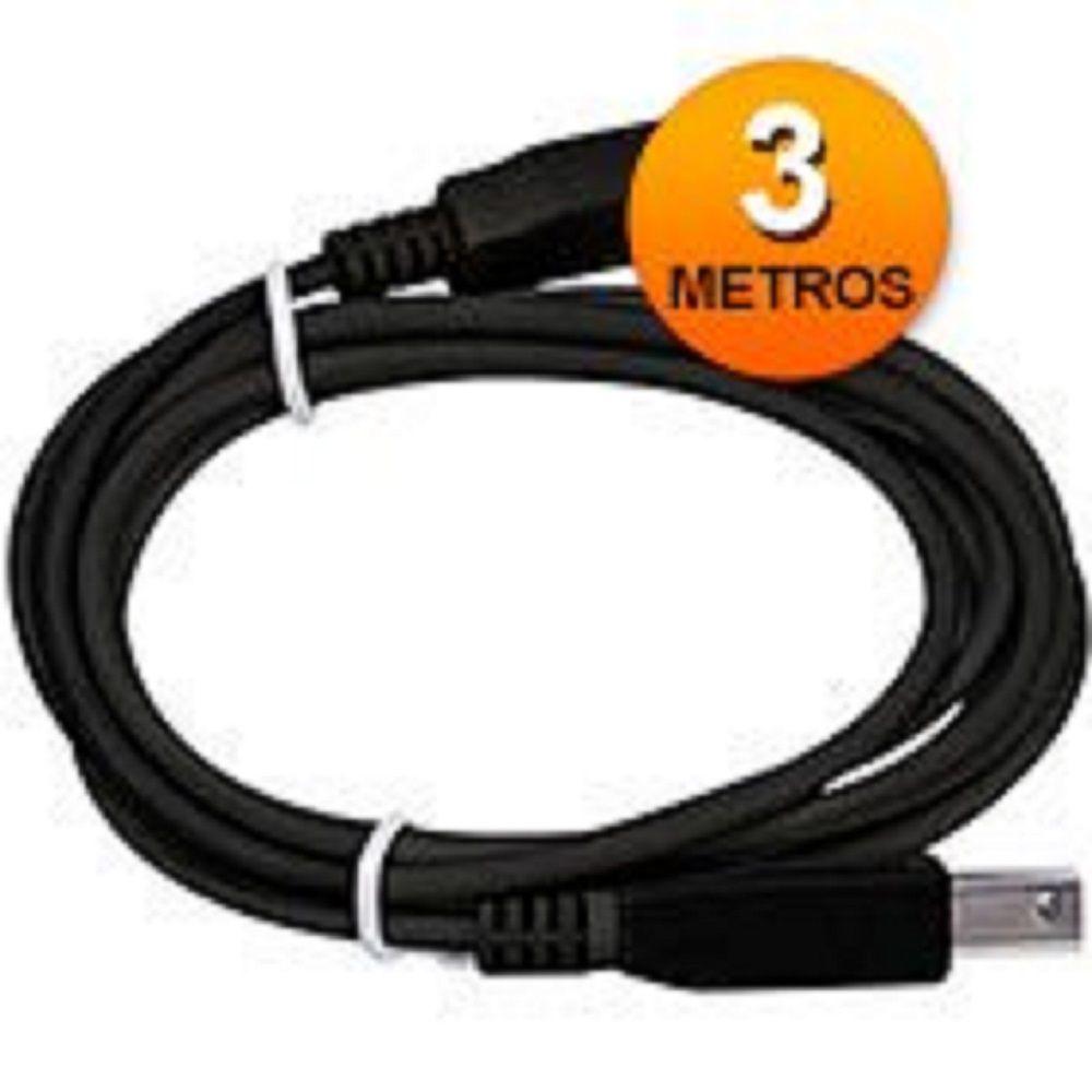 Cabo USB para Impressora Universal 3 Metros