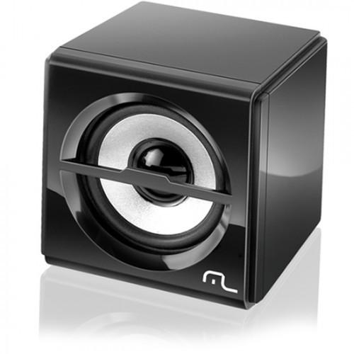 Caixa De Som p/ Computador  Multilaser 2.1 10W Rms Preto Subwoofer Box Usb SP081