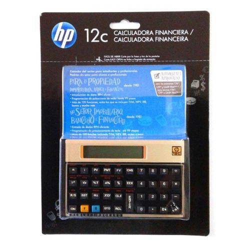 Calculadora Financeira HP 12c Gold Português