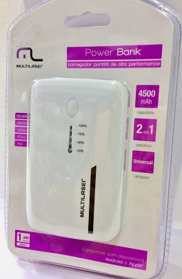 Carregador Portatil Lanterna Power Bank - Multilaser Cb077