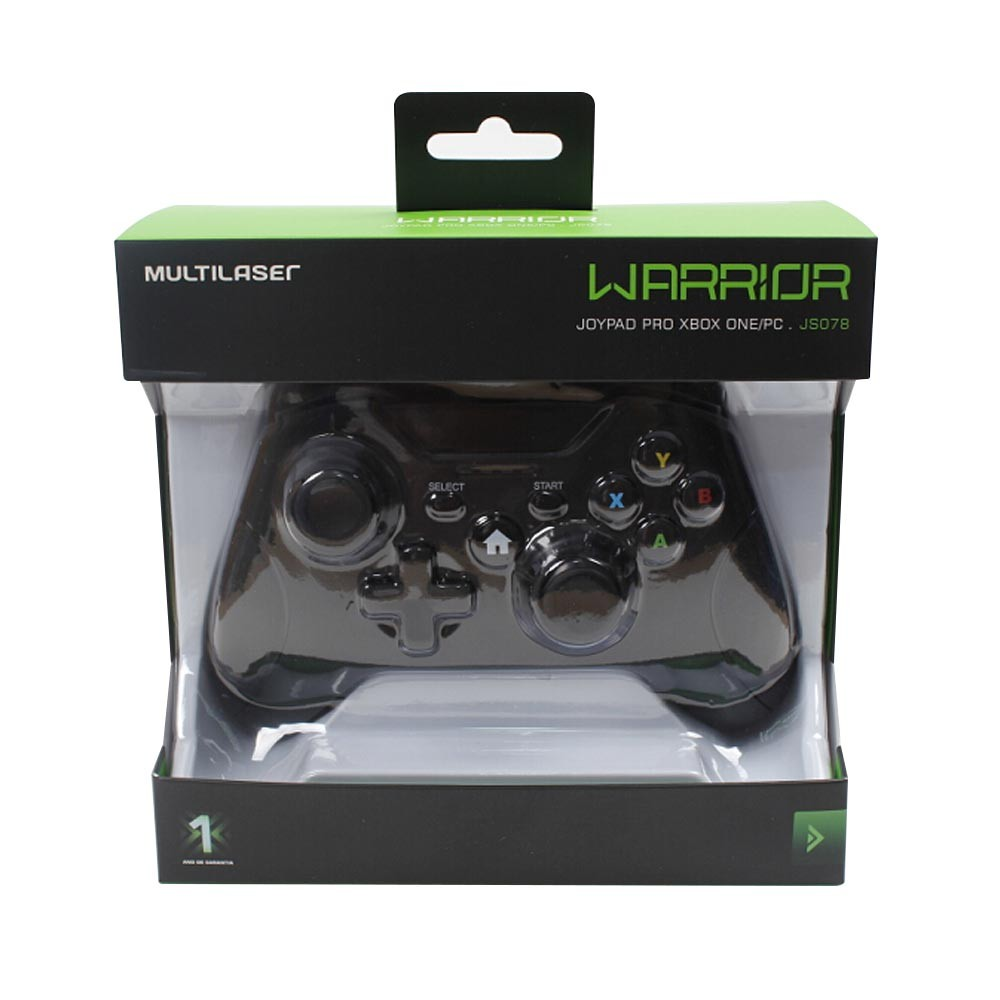 Controle XBOX ONE Warrior Gamer Multilaser JS078